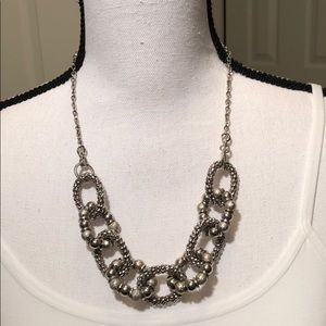 Jewelry - Large Chain Link Silver Necklace